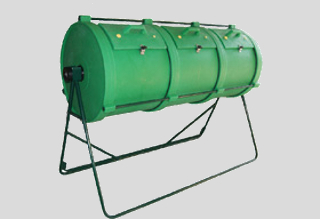 Household manual rotary composters